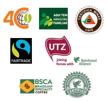 Minas Hill Certification Logos